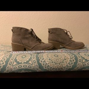 Merona tan ankle boots size 9 1/2